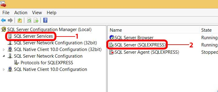 SQL Configuration Manager
